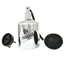 Proraso Chrome & Glass Aftershave Cologne Spray Atomiser With Funnel 100ml