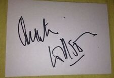 QUENTIN WILLSON SIGNED 6X4 WHITE CARD TV AUTOGRAPH MOTOR TV JOURNALIST AUTHOR
