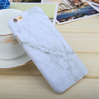 Marble Rock Hard Pattern Case Cover for iPhone 5s 6s 7 Samsung Galaxy S7 S8 Plus