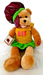 "Vtg w/Tags 1979 BFF Plush Musical 19"" MOD Bear ""Girls Just Wanna Have Fun"" Works"