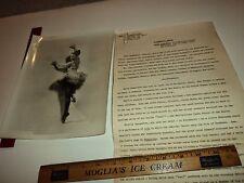 Rare Historical Original VTG Film Actress Prima Ballerina Maria Gambarelli Photo
