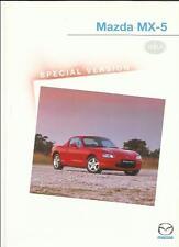 Mazda MX-5 isola édition spéciale sales brochure/fiche 2000