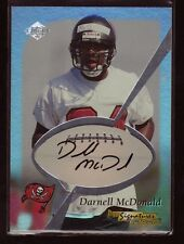 Darnell McDonald AUTOGRAPH Kansas State Wildcats 1999  Edge AUTO Football Card