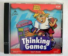 CREATIVE WONDERS SCHOOL HOUSE ROCK THINKING GAMES WIN/MAC CD-ROM AGES 6&UP EUC