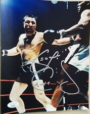 George Chuvalo signed 8x10 photo vs Muhammad Ali JSA coa