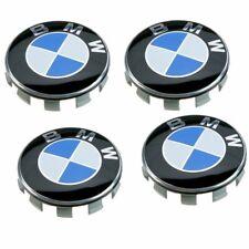 4 TAPPI COPRIMOZZO BMW 68 MM Serie 1 3 5 7 X 2 4 6 CERCHI LEGA BORCHIE TUNING
