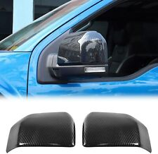 Carbon Fiber Auto Rearview Mirror Cover Trim Frame Bezel for Ford F150 2015 up