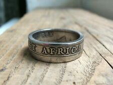 East Africa Coin Ring - British East Africa George VI One Shilling Coin Ring