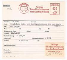 Meppen Emsland 1952 Krankenkasse für den Kreis Meppen AFS Archivkarte Unikat