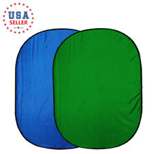 Collapsible Photography Background 5' x 7' Reversible Foldable Blue Green Screen