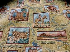 One yd. by 56 inches On Sale Western Tapestry Fabric