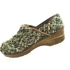 Sanita Womens Tweed Woven Clogs Nursing Mules Occupational Shoes Size 39 8-8.5