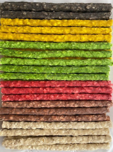 """MUNCHY ROLLS STICKS TREAT CHEWS FOR DOGS PACK OF 50/100 MIXED STICKS 5"""" X 9-10MM"""