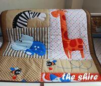 Baby Bedding Crib Cot Quilt Set 4pcs Quilt Bumper Sheet Dust Ruffle