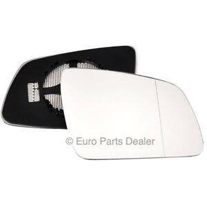 Right CLIP ON mirror glass Mercedes C-Class W204 2007-2008 wide angle heated