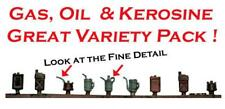 Gas Oil Kerosene Can Variety Pack comes Painted for you S Scale