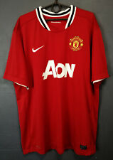 MEN'S NIKE FC MANCHESTER UNITED 2011/2012 FOOTBALL SOCCER SHIRT JERSEY SIZE 2XL