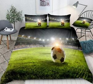 Lucky Yoly Filed with Football Duvet Cover 4 Pieces Set