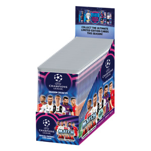 2018-19 TOPPS MATCH ATTAX CHAMPIONS LEAGUE CARDS 30 PACK BOX 210 CARDS TOTAL