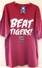 Mens T-shirt Pro Edge SC Gamecock Logo Beat Tigers Print Garnet S/S Cotton NWT L