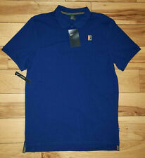 Mens Nike Court Heritage Tennis Pique Cotton S/S Polo Shirt Size S Slim Fit New