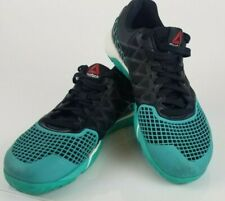 Reebok CrossFit Nano 4.0 Men Size 6.5 Black Teal CF74 Trainer Running Shoes Rare