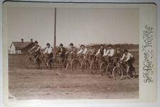 1880s MENS BICYCLE CLUB - WETMORE, KANSAS - PHOTO by SAM BRISTOW