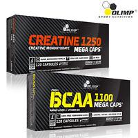 CREATINE MONOHYDRATE Capsules + BCAA Amino Acids 60-180 Pills Strength Energy