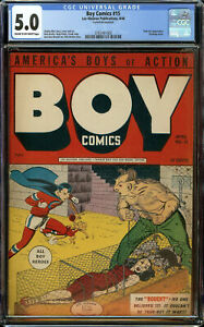 Boy Comics #15 CGC 5.0 COW - Charles Biro Bondage Cover - Only 2 Copies Higher