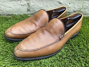 Allen Edmonds Steen Bourbon Leather Split Toe Venetian Loafers 11.5 D USA Made