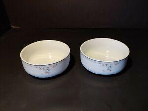 """Princess House porcelain ~ HERITAGE BLOSSOM ~ Cereal Bowls 5"""" Set of 2 ~ Japan"""