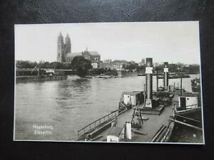 AK Magdeburg Elbpartie mit Dampfer Trinks-Karte ungelaufen