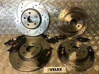 DRILLED & GROOVED FRONT & REAR BRAKE DISCS PADS FORD TRANSIT CONNECT 2013 UPWARD