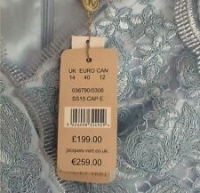 BNWT £199 Jacques Vert Blue Lace pencil Dress 14 Mother of the Bride bridesmaid