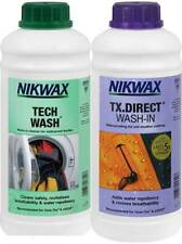 Nikwax TECH WASH & TX DIRECT 1 Litre Twin Pack Clothing Waterproofing Walking