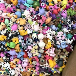 Random Pick 10PCS Littlest Pet Shop LPS Animal Puppy Cat Fox Figure Kids Toys