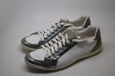 PRADA FASHION SNEAKERS WHITE/METALIC GRAY US Sz:11