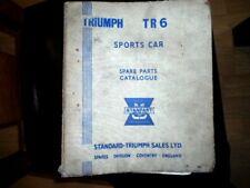 TRIUMPH TR6 SPORT CAR  ORIGINAL SPARE PARTS CATALOGUE