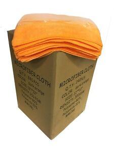 "240 Microfiber Orange 12""x12"" Cleaning Detailing Cloth Towel Auto Car Rag 300GSM"