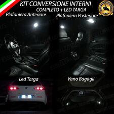 KIT LED INTERNI ALFA 159 SW CONVERSIONE COMPLETA + LUCI TARGA LED CANBUS 6000K