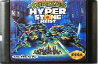 Turtles The Hyperstone Heist Teenage Game Card Sega Genesis Cartridge Mutant