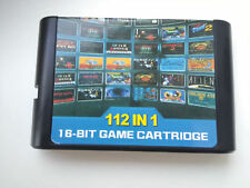 112 in 1 Game Cartridge 16 bit MD Mega Drive Sega Genesis