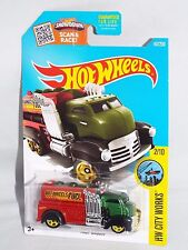 Hot Wheels 2016 HW City Works #167 Fast Gassin' Green & Red w/ 5SPs