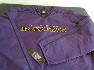 BALTIMORE RAVENS Football NFL Pullover LARGE Windbreaker NEW Sweatshirt Purple