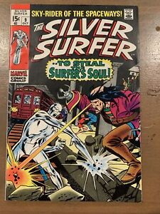 MARVEL SILVER SURFER #9 TO STEAL THE SURFERS SOUL OCT 1969 VF OCT 1969