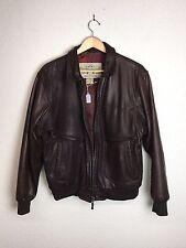 Vtg Banana Republic Bomber Jacket Soft Brown Leather Authentic Travel Size 40