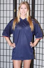 Softball Baseball Umpire Polo Shirt - dark blue - cool mesh - Large