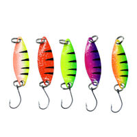5pcs/lot 2g 25mm Spinner Spoon Fishing Lure Metal Lures Colorful Hard Baits Hook