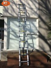 New 3.8M Telescopic Aluminum Ladder Extension Extendable Steps-JET0112H