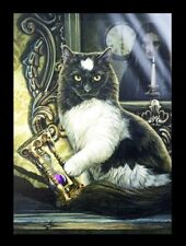 Große Leinwand Katze - Time's Up by Lisa Parker - Fantasy Bilder Druck Kunst